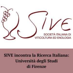 SIVE incontra la Ricerca Italiana: Università degli Studi di Firenze